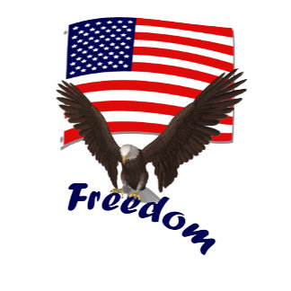 American Flag with Freedom Eagle