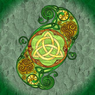 Celtic Spiral Trinity Knot