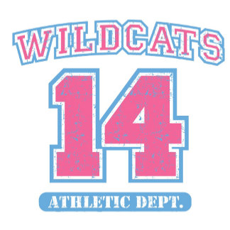 High School Musical Wildcats jersey Athletic logo