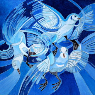 Muge's Pigeons in Blue