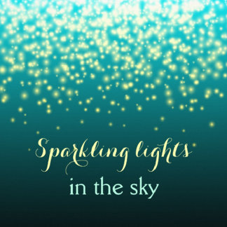 Sparkling lights in the sky