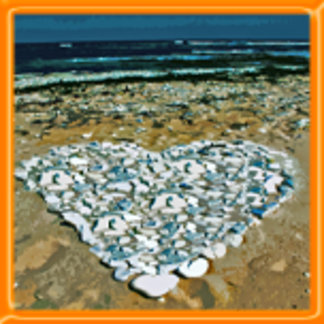 Rocky Love on the Beach Design