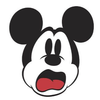 antique Mickey Mouse moaning scared afraid crying