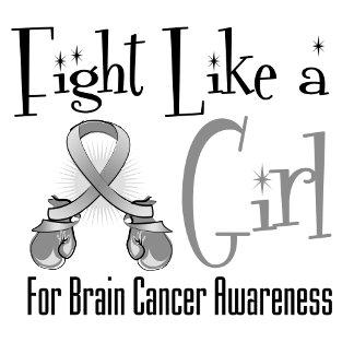 Brain Cancer Cool Retro Fight Like a Girl
