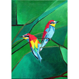 Brighly Colored European Bee-eaters