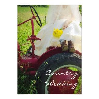 Bride on Tractor Country Farm Wedding