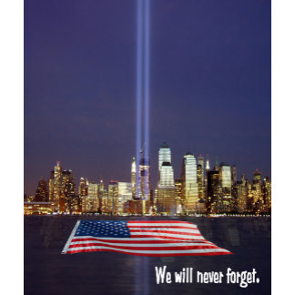 We Will Never Forget 9/11 Tribute with Lights