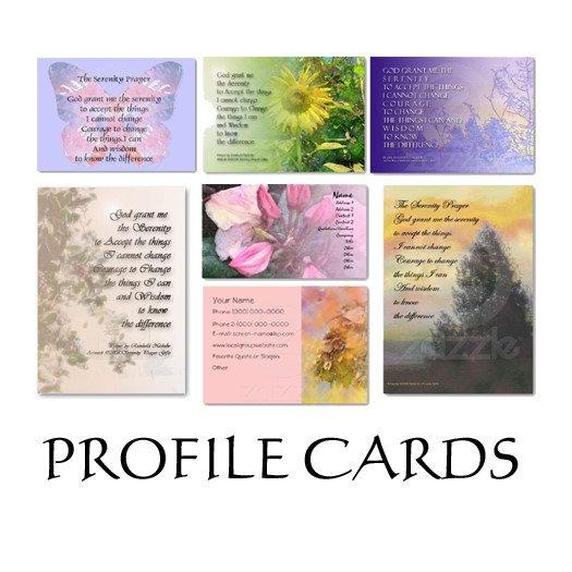 Serenity Prayer Profile & Business Cards