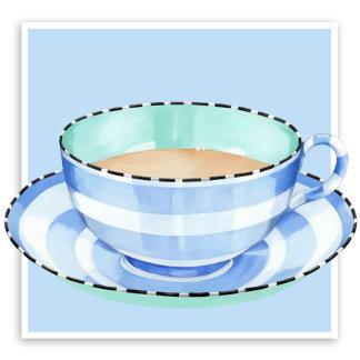 Blue White Teacup