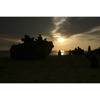 Silhouette of Marines