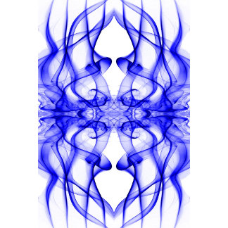 Silhouette of Colored Smoke Abstract Pattern Blue