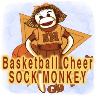 Sock Monkey Basketball Cheerleader