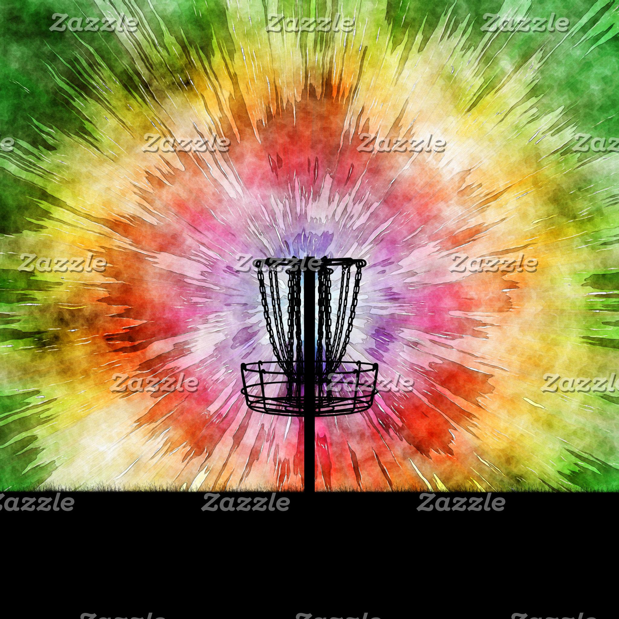 Tie Dye Disc Golf Basket
