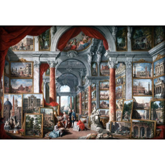 Pannini -Picture Gallery with Views of modern Rome
