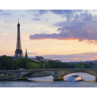 France,Paris,tour boat on River Seine,Eiffel