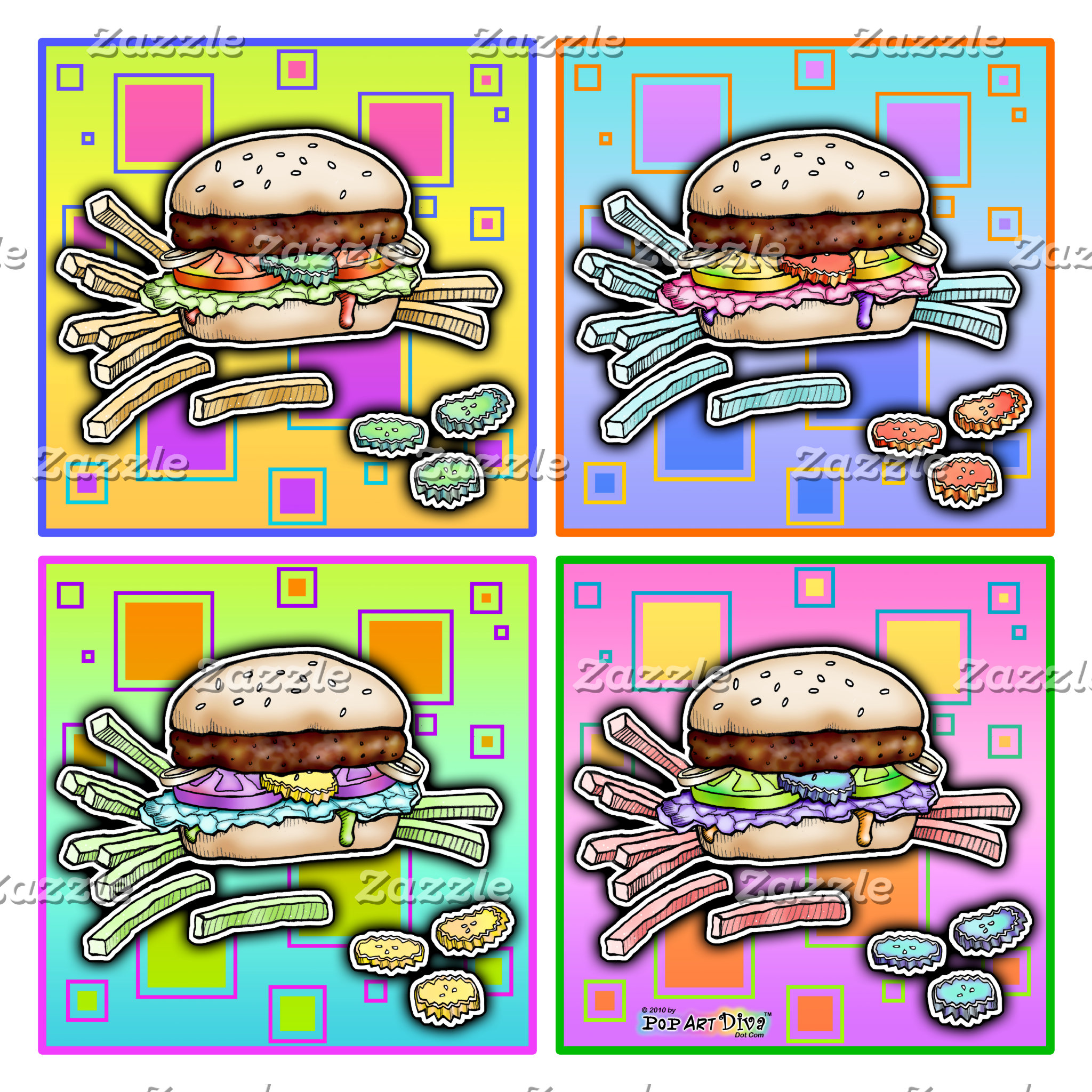 u. BURGER POP ART