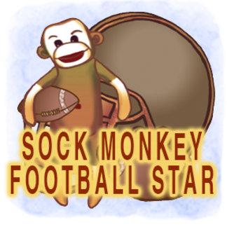 Sock Monkey Football Star
