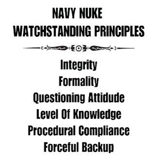 Navy Nuke Watchstanding Principles