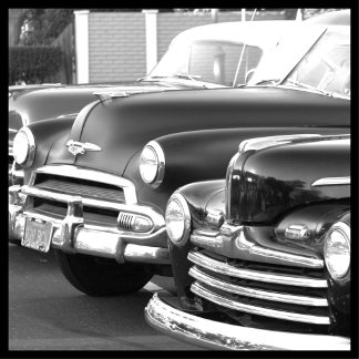 Black and White Classic cars