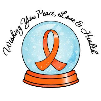 Kidney Cancer Merry Christmas Snowglobe v2