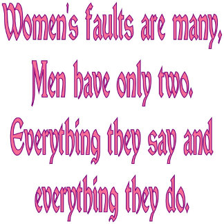 Women's Faults (Square)