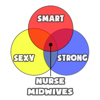Venn Diagram .. Nurse Midwives
