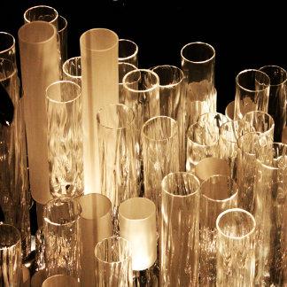 Tall Glass Lights