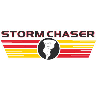 Storm Chaser Red Yellow Logo