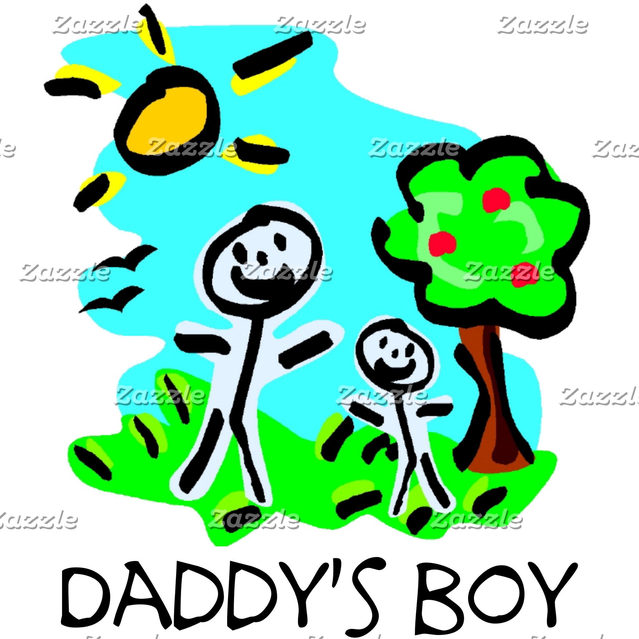 Daddy's Boy Stick Figure