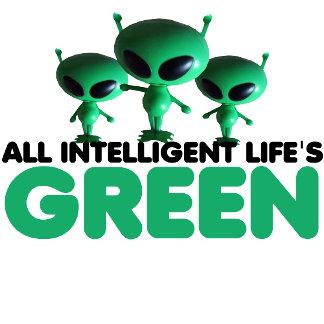 Funny Green merchandise-green aliens theme