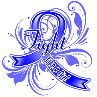 Colon Cancer Fight Like a Girl Flourish