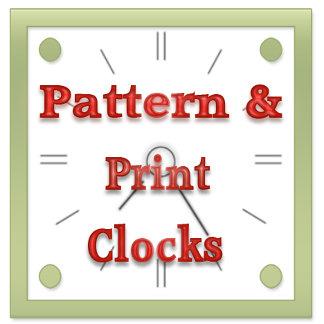 Pattern & Print Wall Clocks