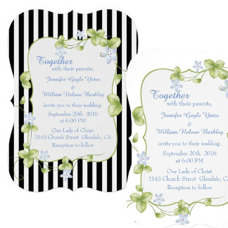 Blue Flowering Vines Wedding Set