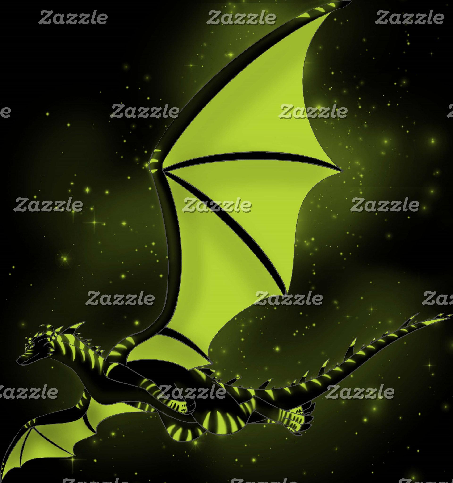 Black and Green Star Dragon