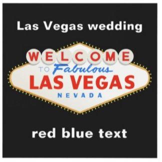 Las Vegas destination wedding, red blue text