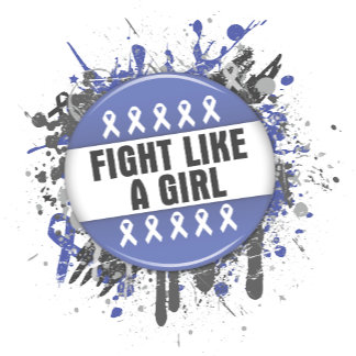 Fight Like a Girl Cool Button - Stomach Cancer