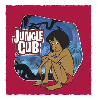 """Jungle Book Mowgli sitting with stick """"Jungle Cub"""""""