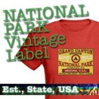 Vintage Label National Park T-Shirts