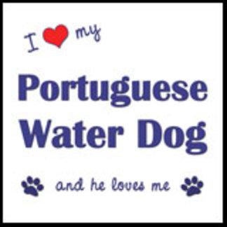 I Love My Portuguese Water Dog (Male Dog)