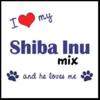 I Love My Shiba Inu Mix (Male Dog)