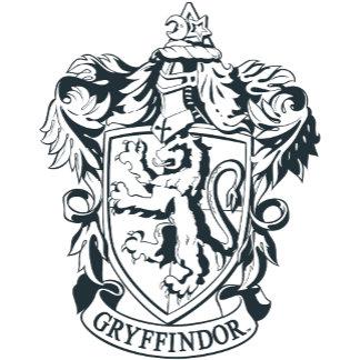 Gryffindor Crest- Black and White