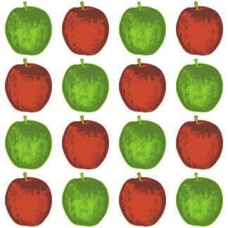 ➢ Sixteen Red & Green Pop Art Apples
