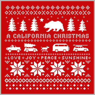 California Christmas Pattern