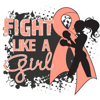Endometrial Cancer Fight Like A Girl Grunge