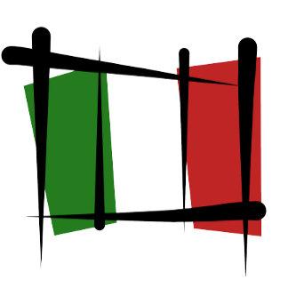 Italy Brush Flags - black strokes