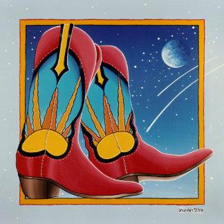 q. COWBOY BOOTS POP ART
