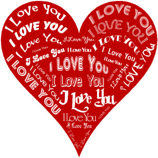 I Love You Heart - Red