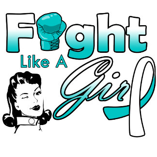 Cervical Cancer Fight Like A Girl - Retro Girl