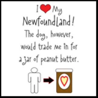I Love Newfoundland, Dog Loves Peanut Butter