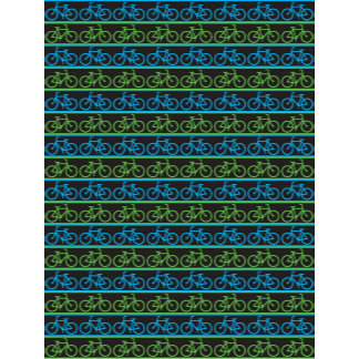 Blue and green Bike Bicycle pattern